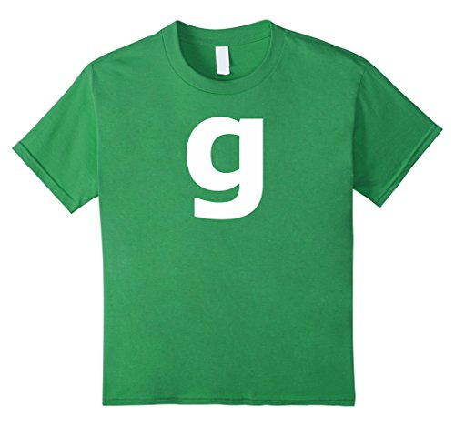 Kids Letter G Group Halloween Costume Cute & Funny Tshirt 10 Grass (10 Letter Halloween Words)