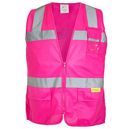 RK Safety PK0430 ANSI/ISEA Class 2 Certified Female Safety Vest (Pink,XL) (Pink Womens Safety Vest)