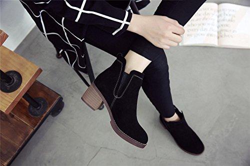 Pelle vintage donna stivaletti tacco alto scarpe , 36