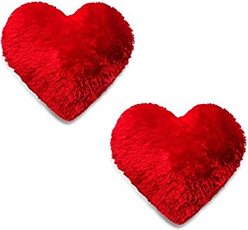 Buy BEATLESS HEARTS Microfiber Heart Shape Pillow (Red) - Set of 2 Online at Low Prices in India - Amazon.in