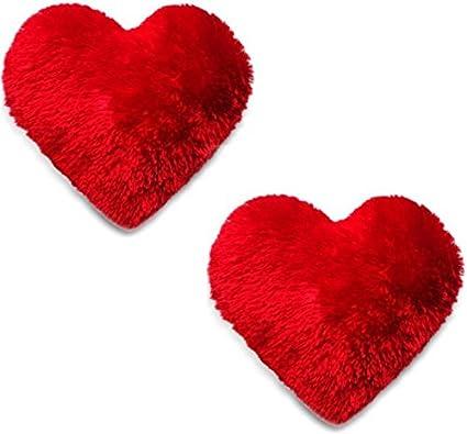 2e79b2f0 BEATLESS HEARTS Microfiber Heart Shape Pillow (Red) - Set of 2