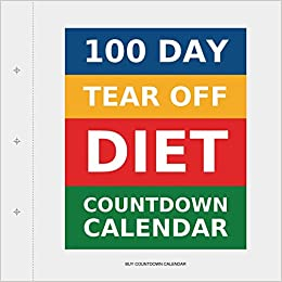 photograph relating to 100 Day Countdown Printable identified as 100 Working day Tear-Off Diet program Countdown Calendar: .united kingdom: Order