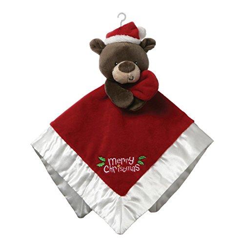 (GUND Baby Merry Christmas Santa Bear Lovey Plush Blanket, 12