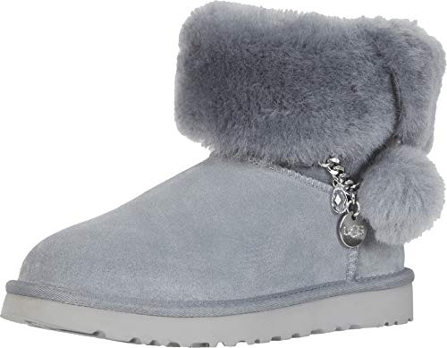 UGG Women's Classic Mini Charms Fashion Boot, Geyser, 11 M US (Charms For Ugg Boots)