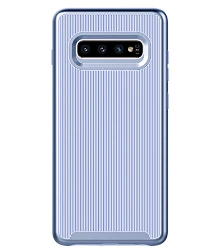 Dual Cover - Spevert Dual Layer Designed for Samsung Galaxy S10+ Plus Case Shock Absorption Scratch Proof Hybrid Slim Protective Case for Samsung Galaxy S10+ Plus 6.4 Inch 2019 Released (Light Blue/Light Blue)