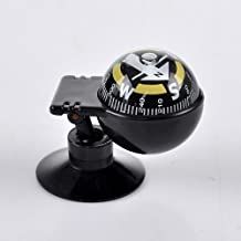HOUSWEETY New Car Vehicle Floating Ball Magnetic Navigation Compass Black