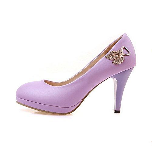 A&N - Sandali con Zeppa donna, Viola (Purple), 35 EU