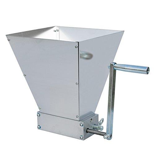 ECO-WORTHY 2 Roller Malt Mill Stainless Steel Barley Crusher Grain Grinder for Homebrew Beer