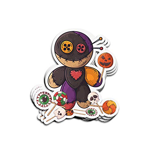 Sneaky Cover 3 PCs Stickers Trick r Treat Funny Cute Sam Halloween 2019 Costume 3×4 Inch Die-Cut Wall Decals for Laptop Window