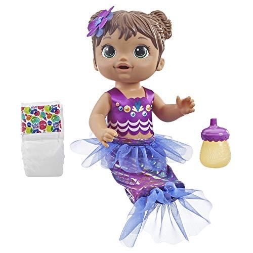Baby Alive Shimmer N Splash Mermaid (Brown Hair)