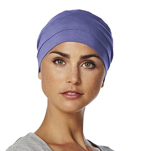 b7b94fc18999e Gorro Amablis para quimioterapia 100% algodón color azul púrpura   Amazon.es  Ropa y accesorios