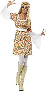 Smiffy's - Disfraz de flor para mujer, talla L (23706L)
