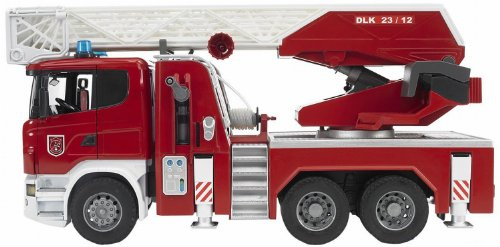 Bruder Scania R-Serie Fire Engine with Water Pump and L and S Module (Fire Truck Bruder Toys)