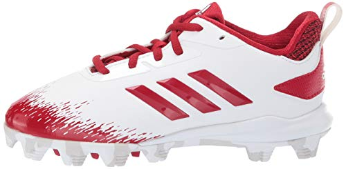adidas Adizero Afterburner V Baseball Shoe White/Power red/Grey 5 M US Big Kid by adidas (Image #5)