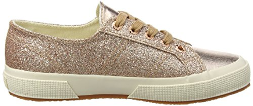 Femme Microglittercotmetcoccow Baskets 916 Gold Multicolore Superga Doré Orange 2750 Rose gx45Engwzt