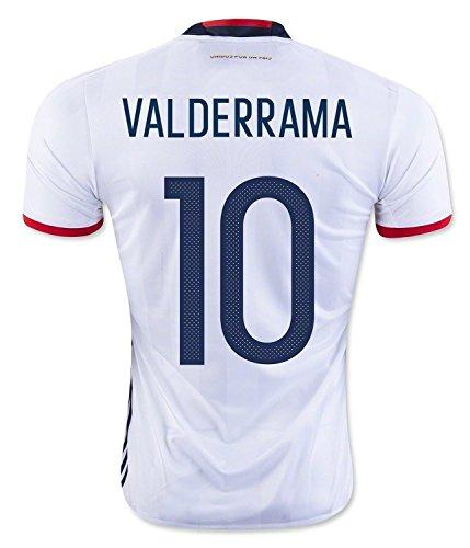 人柄ジョリー活発Valderrama #10 Colombia Home Soccer Jersey Copa America Centenario 2016/サッカーユニフォーム コロンビア ホーム用 バルデラマ 2016
