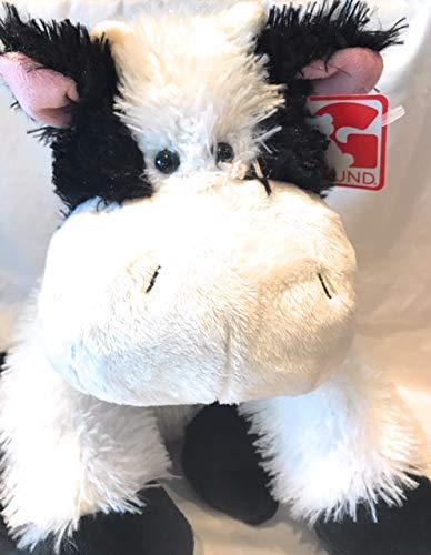 GUND Black and White Plush Cow 12
