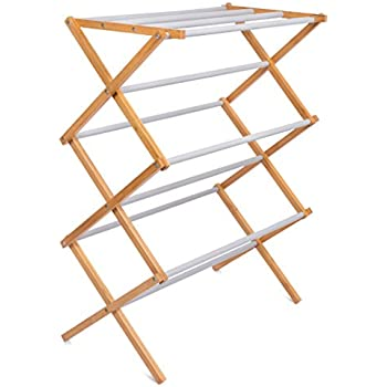 Amazon Com Large Wooden Clothes Drying Rack By Benson