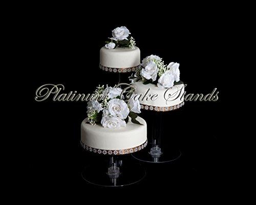 3 Cascade Tier (3 Tier Cascade Wedding Cake Stand XL (STYLE R304))