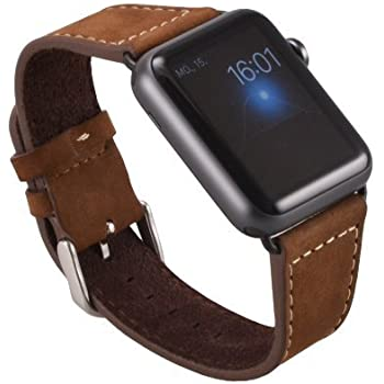 Amazon.com: Apple Watch Genuine leather real strap watch