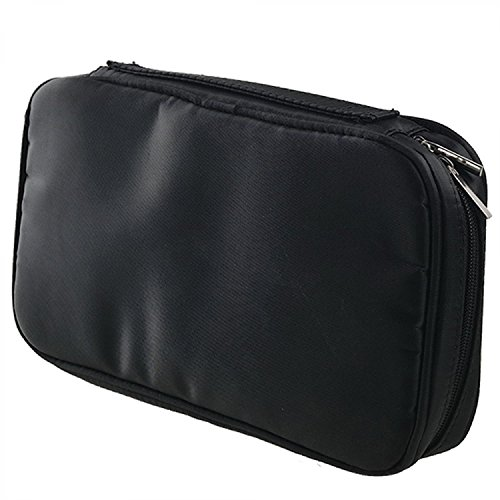 Elisona-Multi-functional-Zipper-Makeup-Brush-Storage-Bag-Cosmetic-Pouch-Case-for-Travel-Home-Use-Black