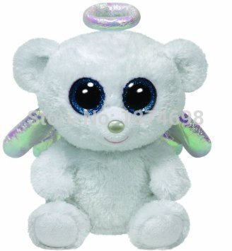 0222ad09d45 Image Unavailable. Image not available for. Color  Beanie Boos Halo Angel  Bear White ...
