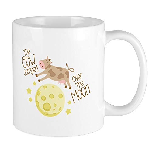 CafePress The Cow Jumped Over The Moon Mugs Unique Coffee Mug, Coffee Cup