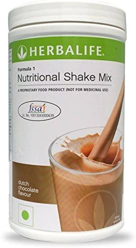 Herbalife Formula 1 Shake Mix 500 Grams - Chocolate Flavor; Healthy F1 Nutritional Meal Replacement Protein Powder Diet - Weight Loss Supplements for Men and Women 1