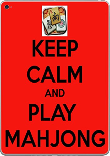 Keep Calm and Play Mahjong Vinyl Decal Sticker Skin by Debbie's Designs for iPad Air 2