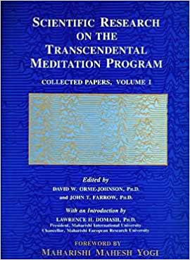 Scientific Research on the Transcendental Meditation Program  Collected  Papers 56a80e392f8