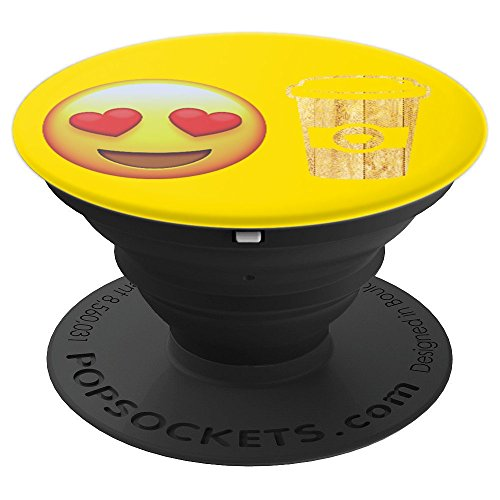 Emojicon Heart Love Coffee Phone Holder Grip - PopSockets Grip and Stand for Phones and Tablets -