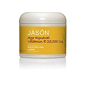 JASON Age Renewal Vitamin E 25,000 IU Moisturizing Crème, 4 oz. (Pack of 2) (Packaging May Vary)
