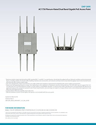 D-Link Systems Wireless AC1750 Simultaneous Dual Band Plenum-Rated PoE Access Point (DAP-2695) by D-Link (Image #10)