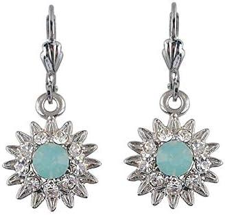 Pendiente de joyería de moda para mujer Pendientes de gota de cristal austriaco púrpura con regalo de cumpleaños de joyería de piedra