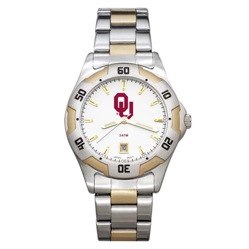 NCAA Oklahoma Sooners Men's All-Pro Two-Tone Watch by Logo Art