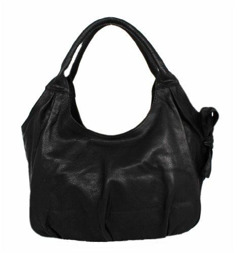 1A Genuine Leather Women's Bag/Purse Handbag Shoulder Bag Nero 00106