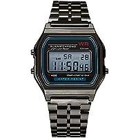 LED Digital Waterproof Quartz Wrist Watch Dress Golden Wrist Watch Women Men,Outsta Clock Gift Watches Round Case Wristwatches