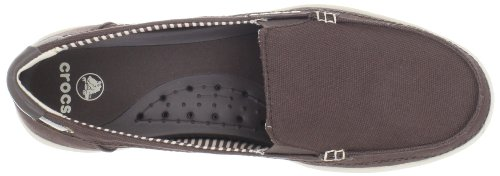 Crocs Womens Walu Canvas Mocassino Espresso / Stucco