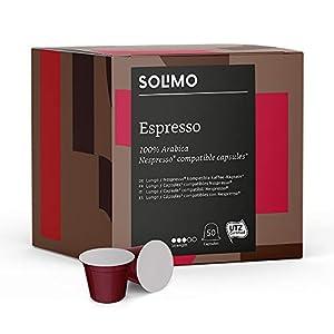 Marca Amazon – Solimo Cápsulas compatibles con Nespresso* – café certificado UTZ 41ApQoYYbgL