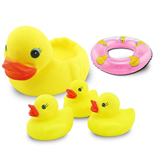 CHAKMEE Yellow Ducks Kid Bath Toy Model Indoor (Leap Pad Games Ninja Turtle)