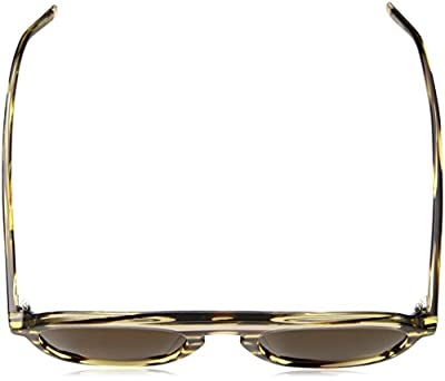 Calvin Klein Men's Ck4357s Oval Sunglasses, Light Horn, 51 mm