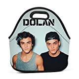 Neoprene Lunch Bag - D-olan-T-wins Lunch Tote Bags for Women & Girls - Lunch Boxes for Kids & Adult Lunch Box