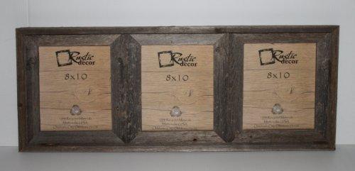 8x10 Rustic Reclaimed Wood Triple Opening Frame