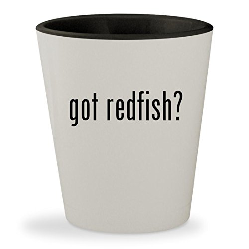 Redfish Candy (got redfish? - White Outer & Black Inner Ceramic 1.5oz Shot Glass)