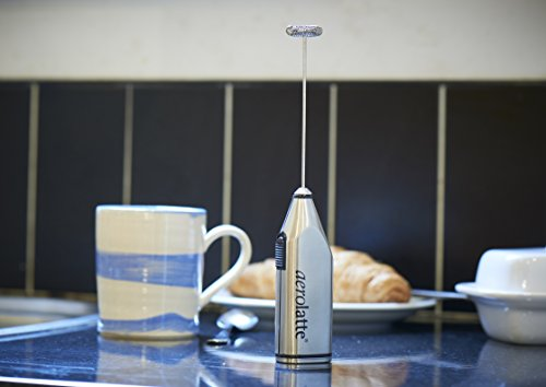 aerolatte Deluxe Edition Milk Frother with Stand, Stainless Steel