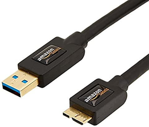 AmazonBasics USB 3.0 Cable - A-Male to Micro-B - 3 Feet (0.9 Meters) (Usb3 Hub Network)