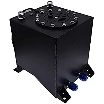 labwork Fuel Tank with Built-in Level Sender 5 Gallon Coated Aluminum Fuel Cell Gas Tank /& Level Sender Racing//Drifting Black