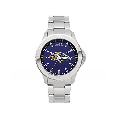 Jack Mason Brand JMF-1010-BA Baltimore Ravens Team Color Dial Mens Sport Watch by Jack Mason