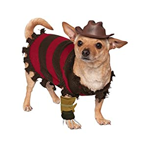 Rubies Costume Company A Nightmare on Elm Street Freddy Krueger Pet Costume