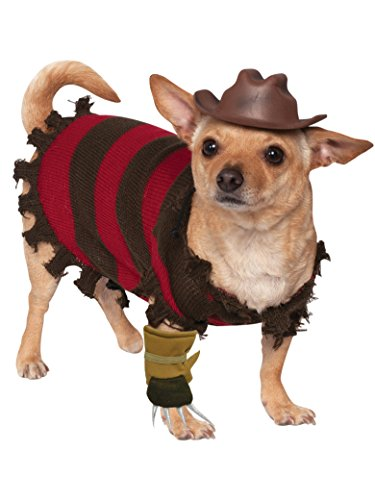 Rubie's A Nightmare on Elm Street Freddy Krueger Pet Costume, Large -
